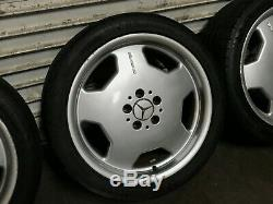 Mercedes Benz Oem W210 E55 Front Rear Set Rim Wheel And Tire Amg 18 Inch 98-02