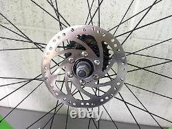 Micargi 26 x 4.0 Rear & Front Fat Bike Wheel 7 speed 36 spoke Disc Brake Black