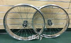 Micargi 26 x 4.0 Rear & Front Fat Bike Wheel 7 speed 36 spoke Disc Brake Polish