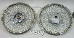 Modified 72 spoke Front & Rear wheel assy Honda SS50 70 90 CD50 90 CL50 90 C90