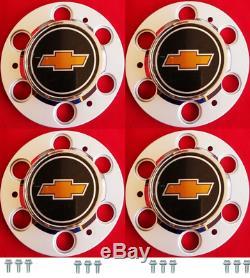 NEW 6-LUG CHEVY 1500 SILVERADO SUBURBAN BLAZER Wheel Center Cap SET with Screws