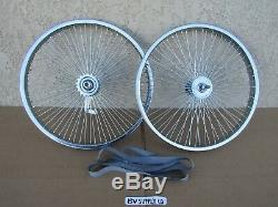 NEW BICYCLE 20'' x 1.75 LOW-RIDER WHEEL SET 68 SPOKES, LOWRIDER, BMX, TRICYCLE