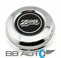 New 70-81 Chevrolet Camaro Z28 15 5-spoke Mag Steel Wheel Hub Center Caps Set