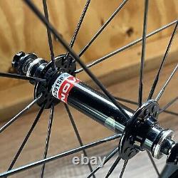 Novatec Carbon Tubular Wheelset 700C Bladed Spokes 20H Front 24H Rear Campagnolo