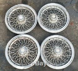 OEM 1986-1996 Chevy Caprice Classic 15 Wire Spoke Hubcaps Wheel Covers NO LOCKS