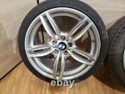 OEM BMW Front Rear Rims Wheels R19 8.5J 9J M Double Spoke 351 SET