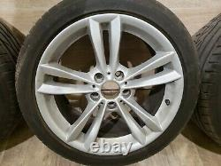 OEM BMW Front Rear Sport Wheels Double Spoke Style 658 R18 SET