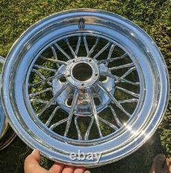 ORIGINAL Weld Wheels Star Wire 30 Spokes 15x7 Cragar Star Wire Wheels RWD UNILUG