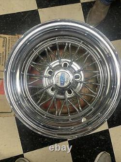 ORIGINAL Weld Wheels Star Wire 30 Spokes 15x8 Cragar Star Wire Wheels RWD UNILUG