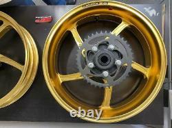 OZ Racing Piega 5-Spoke Forged Aluminum Front & Rear Wheels, Gold