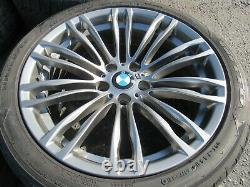 Oem 2013-2016 Bmw F10 M5 Front/rear Wheel Rim Set Of 4 With Tires 5-7/32 17348