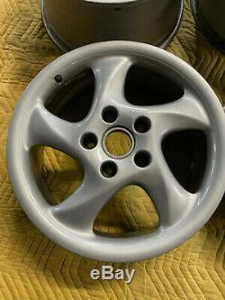 Porsche 996/993 Factory Genuine Turbo Look 5 Spoke 18 Wheels