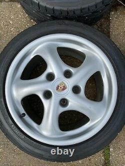 Porsche 996/993 Oem Factory Genuine Turbo Look 5 Spoke 17 Wheel/tires & Cap Set