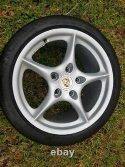 Porsche 996 Oem Genuine Original 2002 Carrera 5 Spoke 18 Wheel & Center Cap Set