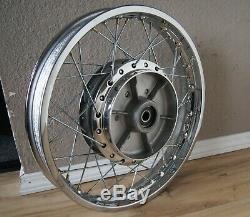 RESTORED 1972-76 kawasaki z1 h2 h1 Rear Wheel 2.15x18 rim axle 18in 40 spoke 4E