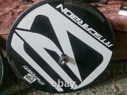 RTS Carbon Track Wheelset Rear Disc Wheel + Front Five Spoke Super Fast