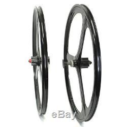 Rear&Front 26 MTB Bike Mag Magnesium Wheels 3-Spoke Set Rim Wheelset 6/7 Gears