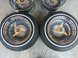 Roadster Roadstar Wire Wheels Chrome 13x7 72 Spoke Knock Off