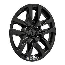 Set of 4 18 5 Split Spoke Wheel Skins for 19-2020 Silverado 1500 Gloss Black