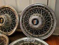 Set of 4 OEM 1978-90 Buick Estate Wagon RWD 15 Wire Spoked Wheel Covers Hubcaps