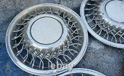 Set of 4 OEM 1991-93 Dodge Dynasty Caravan LE 14 Wire Spoke Hubcap Wheel Covers
