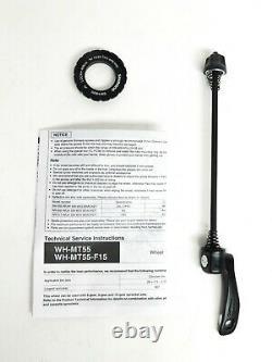 Shimano MT55 26 MTB Wheelset 24 Spoke 15mm Front QR Rear CL Disc Brake White