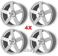 Silver Wheels Rims Tires Staggered Offset 255 35 20 275 35 20 Package Set Five 5