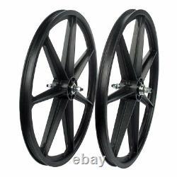 Skyway Retro Tuff 7-Spoke BMX Wheelset Black 24x1.75 Bolt-On 3/8 Axle FW Hub