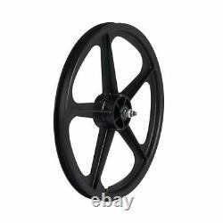 Skyway, Tuff II 20 5 Spoke Black, Wheel, Front and Rear, 20'' / 406, Bolt-on, F
