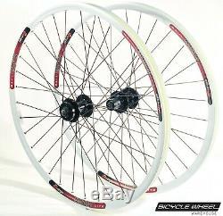 Sun MTX29 26 Wheel set Formula 6-Bolt Disc QR Hubs Black Spokes 8,9,10 spd