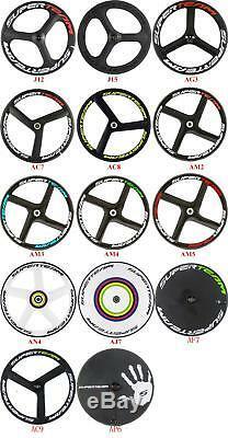 Superteam 700C Tri Spoke Front+Rear Wheels 3 Spoke Clincher Road Wheelset 70mm