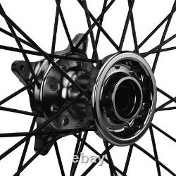 Suzuki RMZ250 RMZ 450 05-19 Front Rear 21/19 Wheels Set Gold Rim Black Hub Spoke