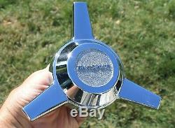 TRU-SPOKE Chrome Wheel 3 Bar Spinner Center Cap Cragar Truespoke