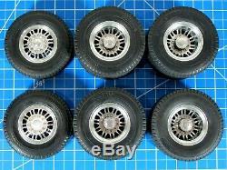 Tamiya R/C 1/14 Aluminum Front & Rear Spoke Wheels Rims Tires King Grand Hauler