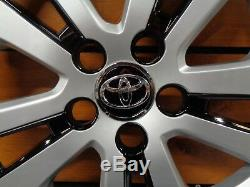 Toyota Prius Wheel Cover Hubcap Fits 2016-2017 15 Silver Black 5 Spoke 61180