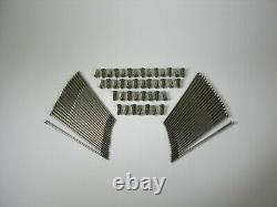Triumph T120 Bsa A65 Complete Stainless Rim & Spoke Kit Full Width Hub/spool Hub
