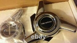 Tru-spoke 3 Bar Swept Wing Spinners Nos Four (4) With All Attaching Parts