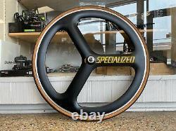 ULTRA RARE! Specialized DuPont Carbon Tri-Spoke Front / Rear Track Wheel Tubular