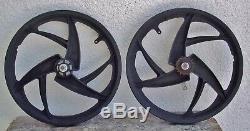 Vintage Bmx Acs Z Mag 20 Bike Coaster Brake Rear Front Wheel Rims 3 Spoke Set