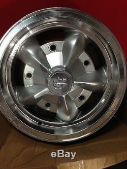 WBC-1 Wolfsburg logo Alloy wheel center caps Empi 5 spokes VW Bug Ghia Type 3 T1
