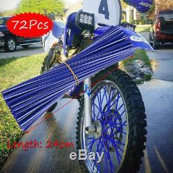 Wheel Spoke Wraps Kit Rims Covers Skins Guard Protector For Motocross Dirt Bike