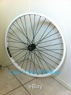 White 26 x 2.125 Bicycle Alloy WheelSet Front & Rear Heavy Duty 12G Spokes Bike