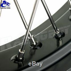 YZ250F YZ450F 14-19 Complete Supermoto Spoked Wheel Rim Hub Set for Yamaha 17/17