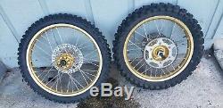 Yamaha Yz250f Yz125 250 400 426 front Rear gold Wheel Rim Hub Spokes Tire Axle