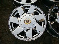 00-05 Cadillac Deville Dts Oem Ensemble De 4 Chrome 17 Ventilateur Lame 7 Rayon Roues Jantes
