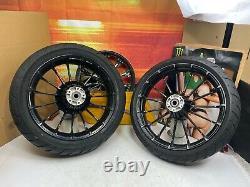 00-21 Harley Touring Avant Et Arrière Turbine Roues 21 Spoke Dunlop Pneus Oem