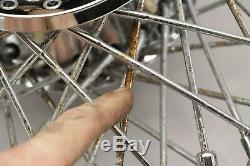 04 Harley Sportster Front 21x2.15 Rear 16x3.00 Jeu De Jantes De Roue Chrome 90-spoke