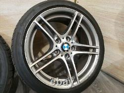 06-13 Oem Bmw E92 E93 Front Rear Sport Wheels Double Spoke Style 313 R18 Set