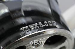 06 Harley Softail Fat Boy Chrome Avant Arrière 16x3.00 Ensemble De Jantes De Roue 5-spoke 16