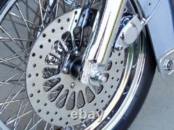 11.5 Adn Super Spoke Front & Rear Brake Rotors Boulons Libres Pour Harley 2000 & Up